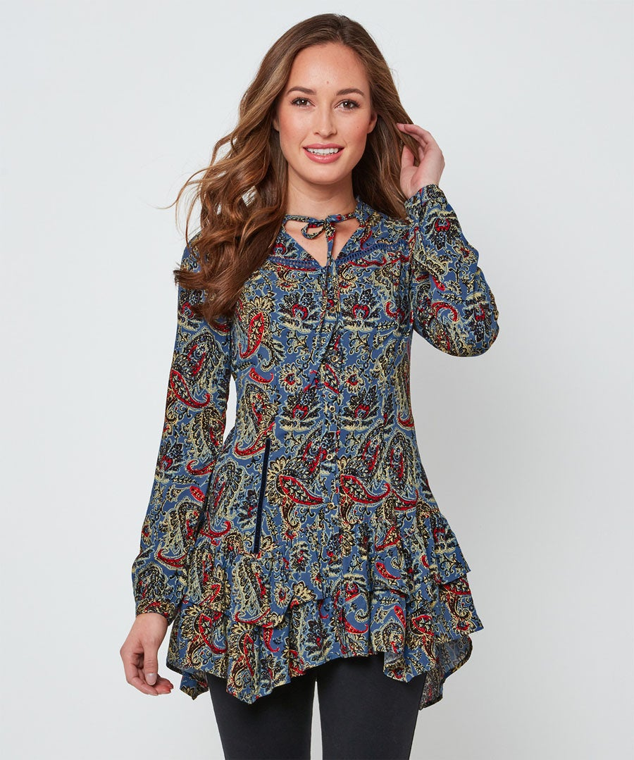 Quirky Waterfall Blouse