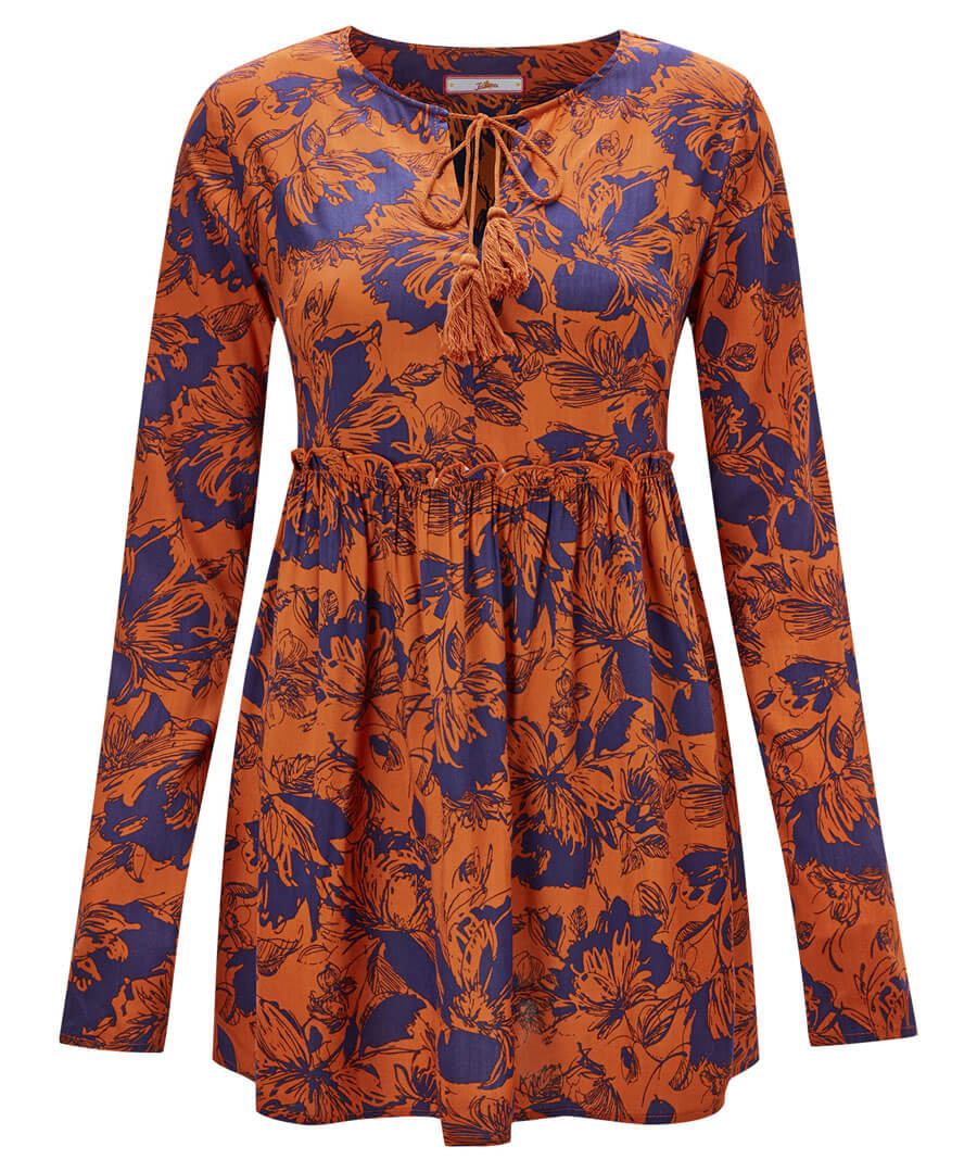 Abstract Floral Smock