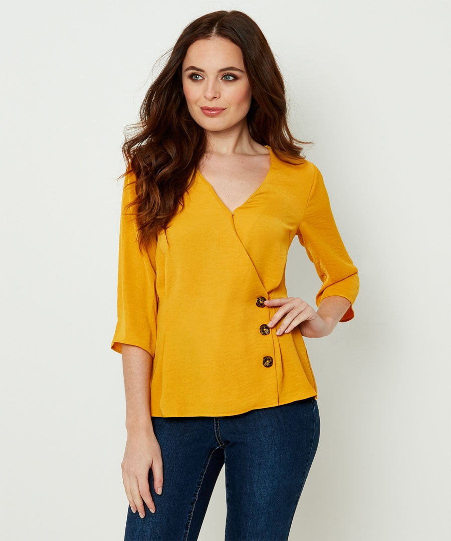 Capsule Collection Wrap Blouse Model Front