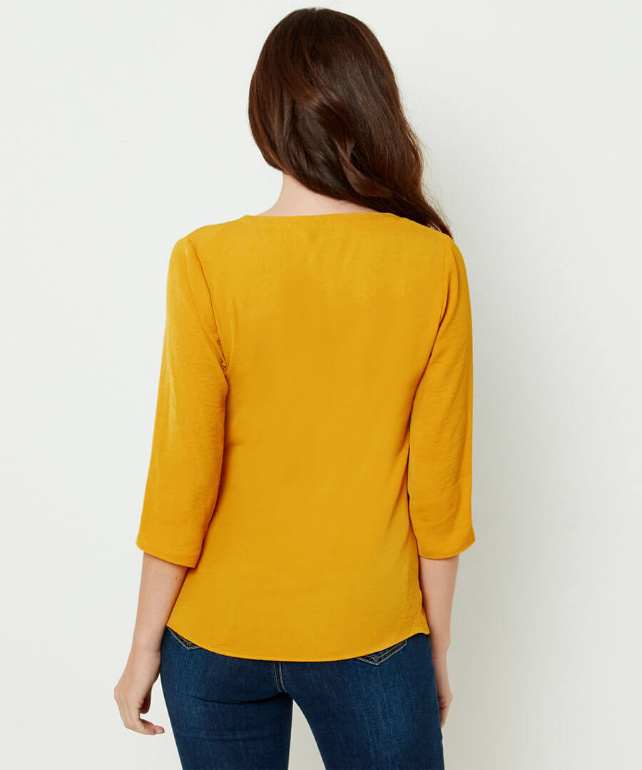 Capsule Collection Wrap Blouse Model Back