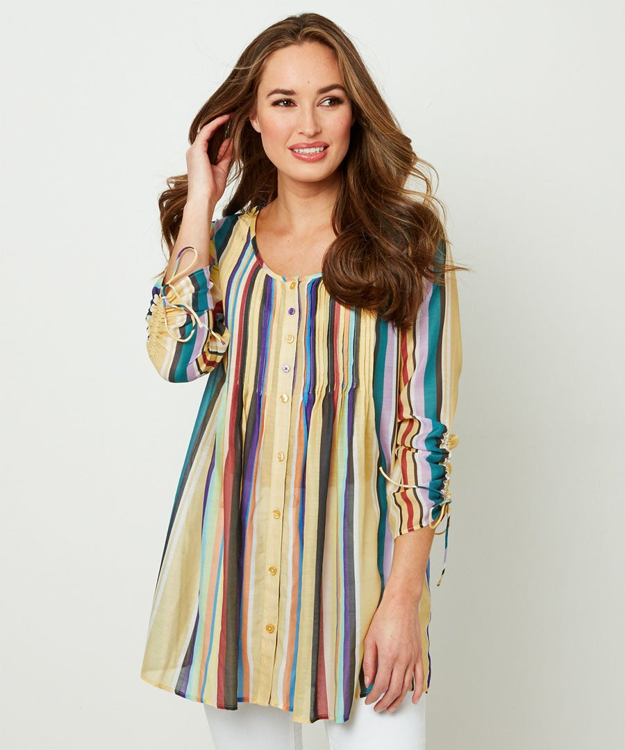 Rainbow Blouse Model Front