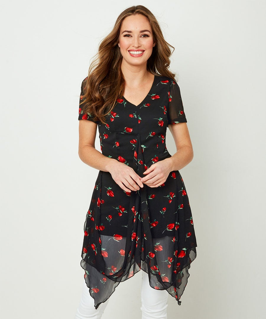 Heavenly Hitched Blouse Model Front