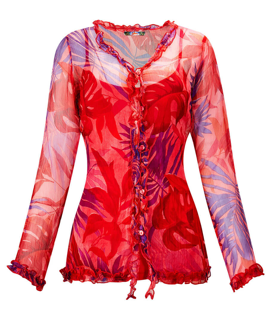 Splash Of Colour Blouse Model Front