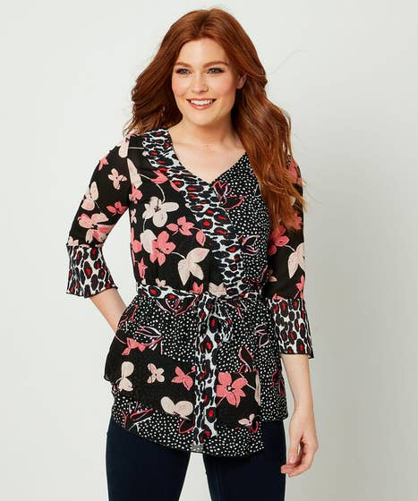 Mix Of Prints Blouse