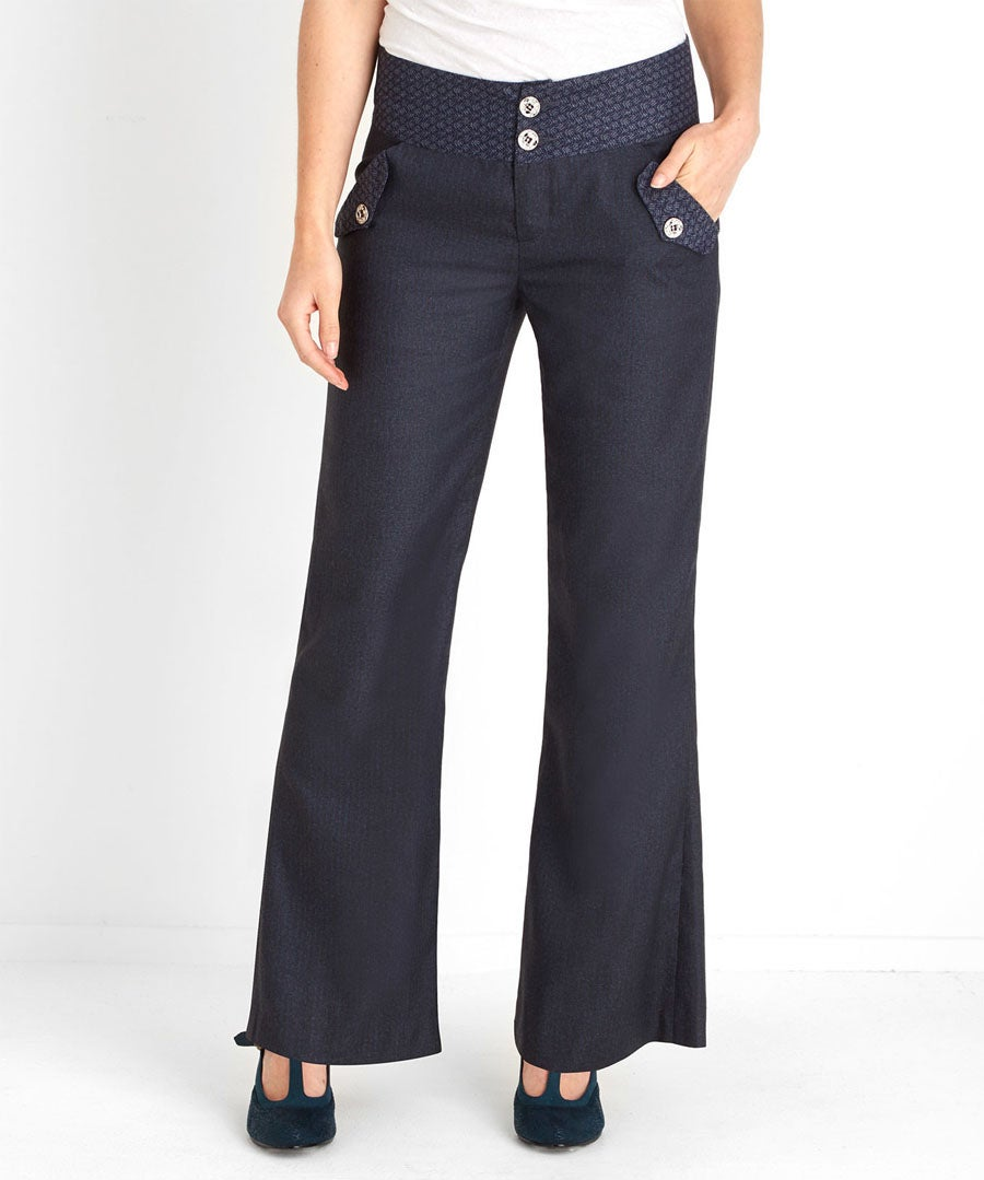 Perfect Pinstripe Trousers Model Front