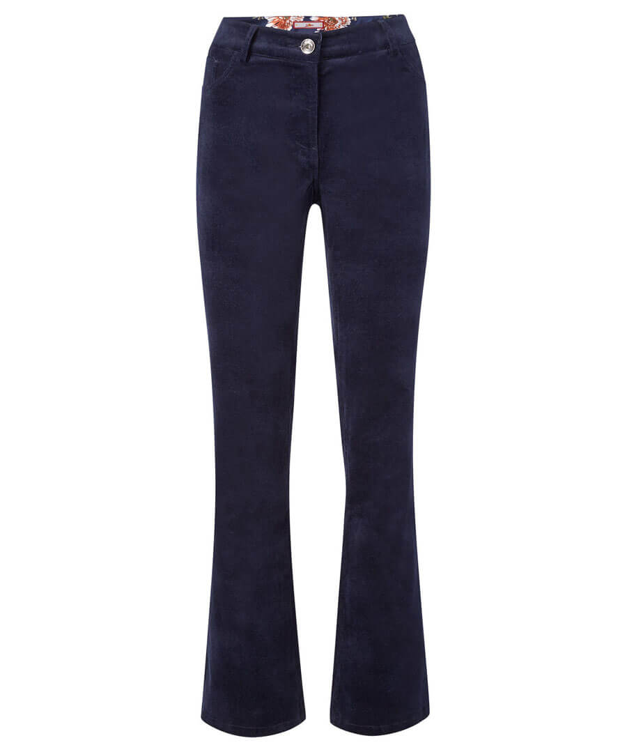 Bootcut Velvet Trousers Model Front