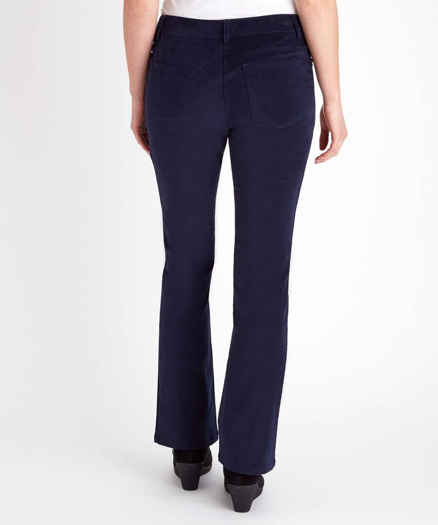 Bootcut Velvet Trousers Model Back