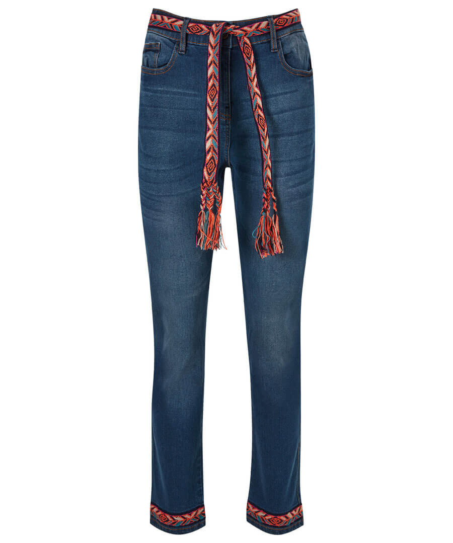 Funky Festival Jeans Model Front