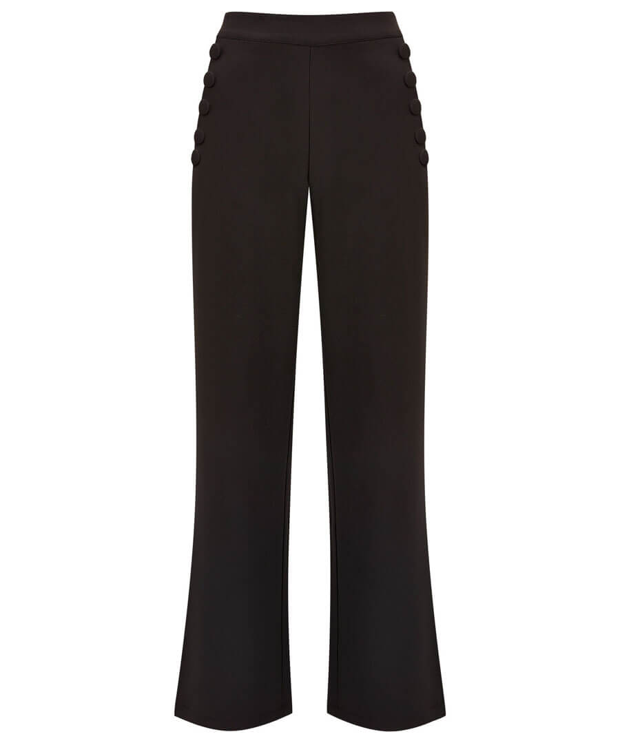 Heathers Wide Leg Trousers Model Front