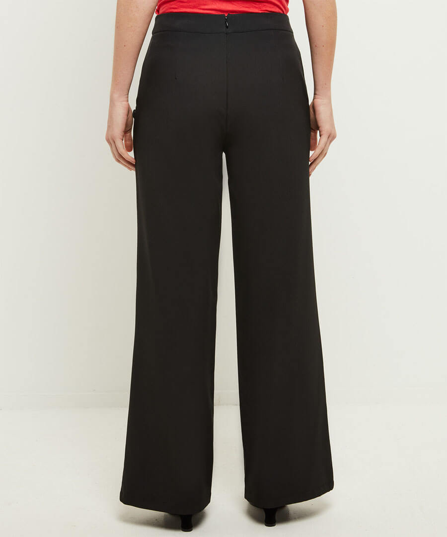 Heathers Wide Leg Trousers Model Back
