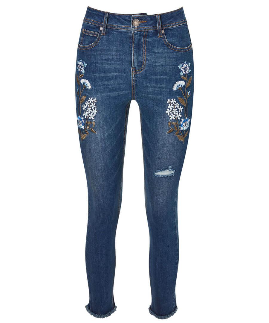 Frayed Hem Jeans Model Front