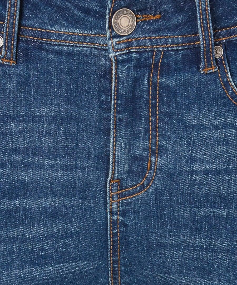 Frayed Hem Jeans Back