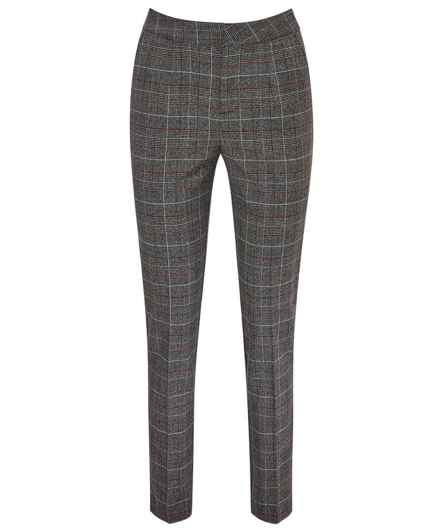 Intellectual Check Trousers Model Front