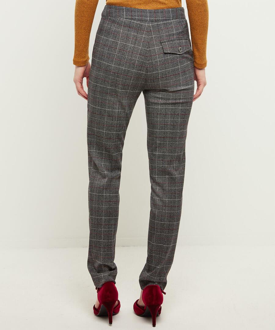 Intellectual Check Trousers Model Back