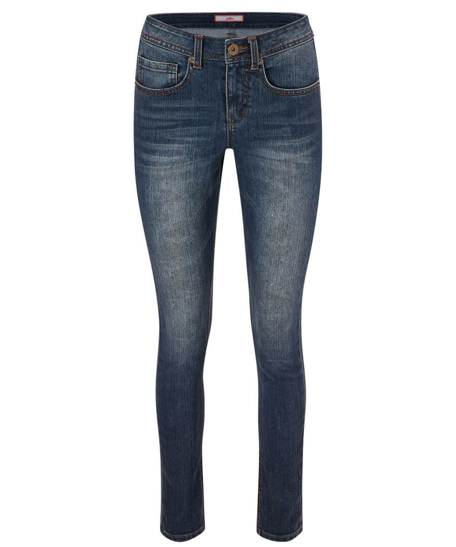 Essential Slim Mid Wash Jeans Model Front