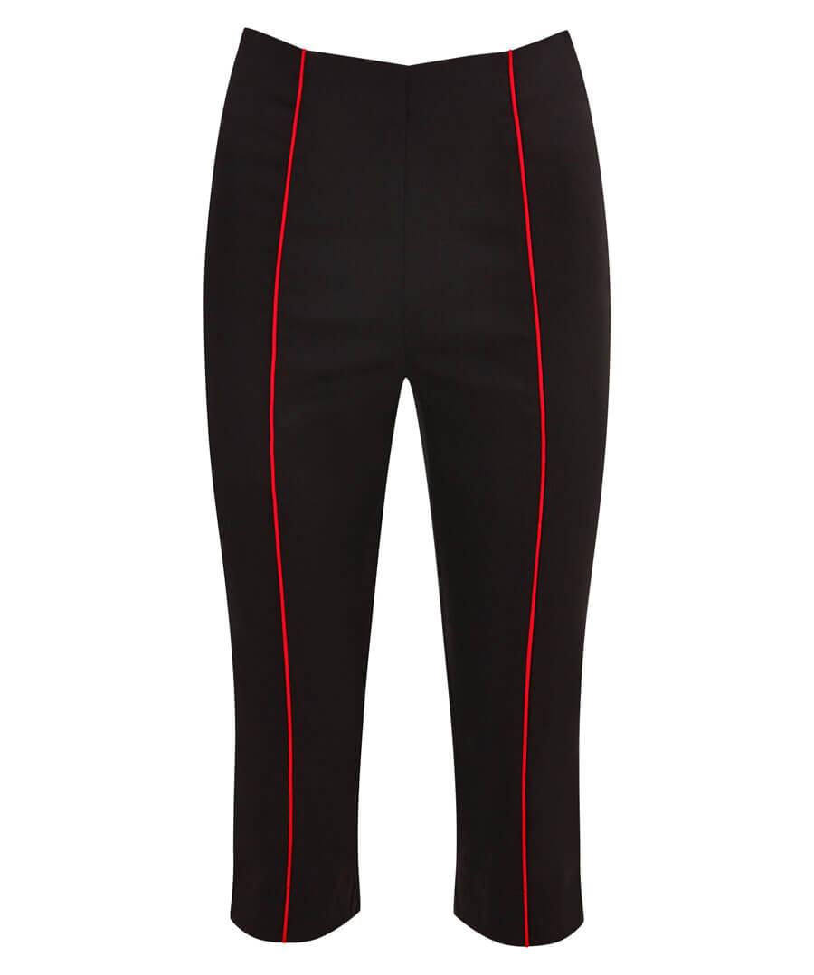 Retro Winter Capri Pants Model Front