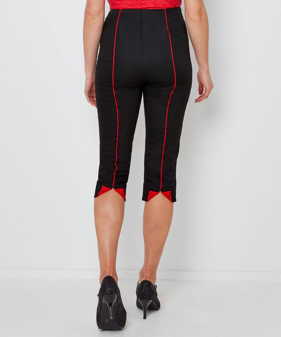Retro Winter Capri Pants Model Back