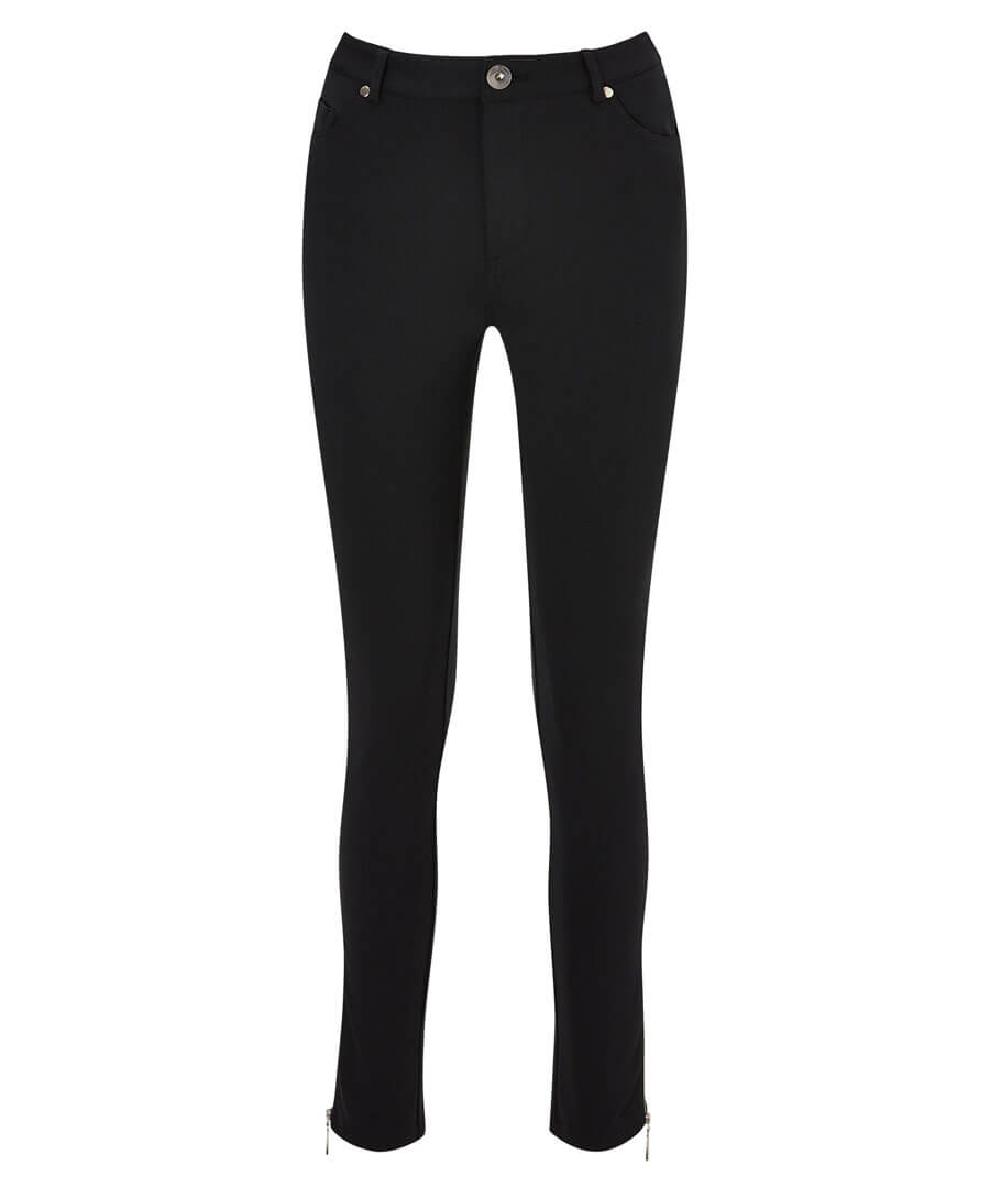 Zip Ankle Ponteroma Trousers Model Front