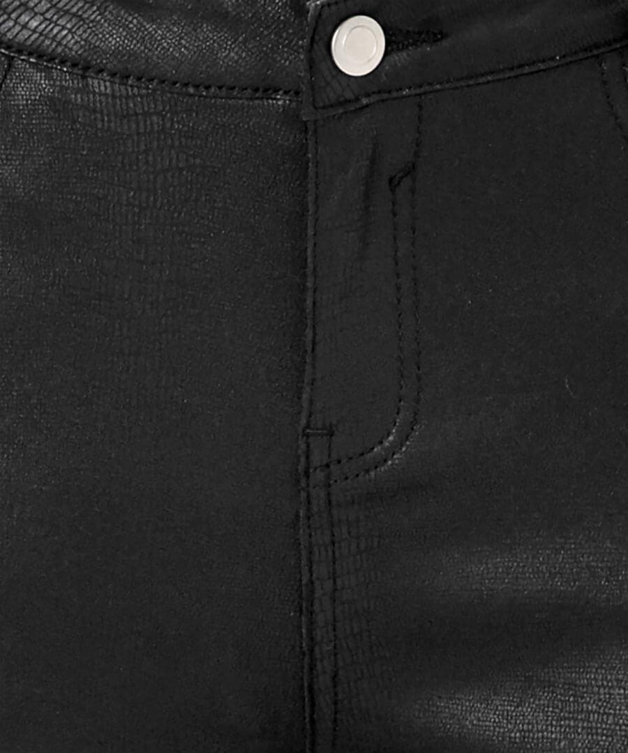 Embossed Snake Print Trousers Back