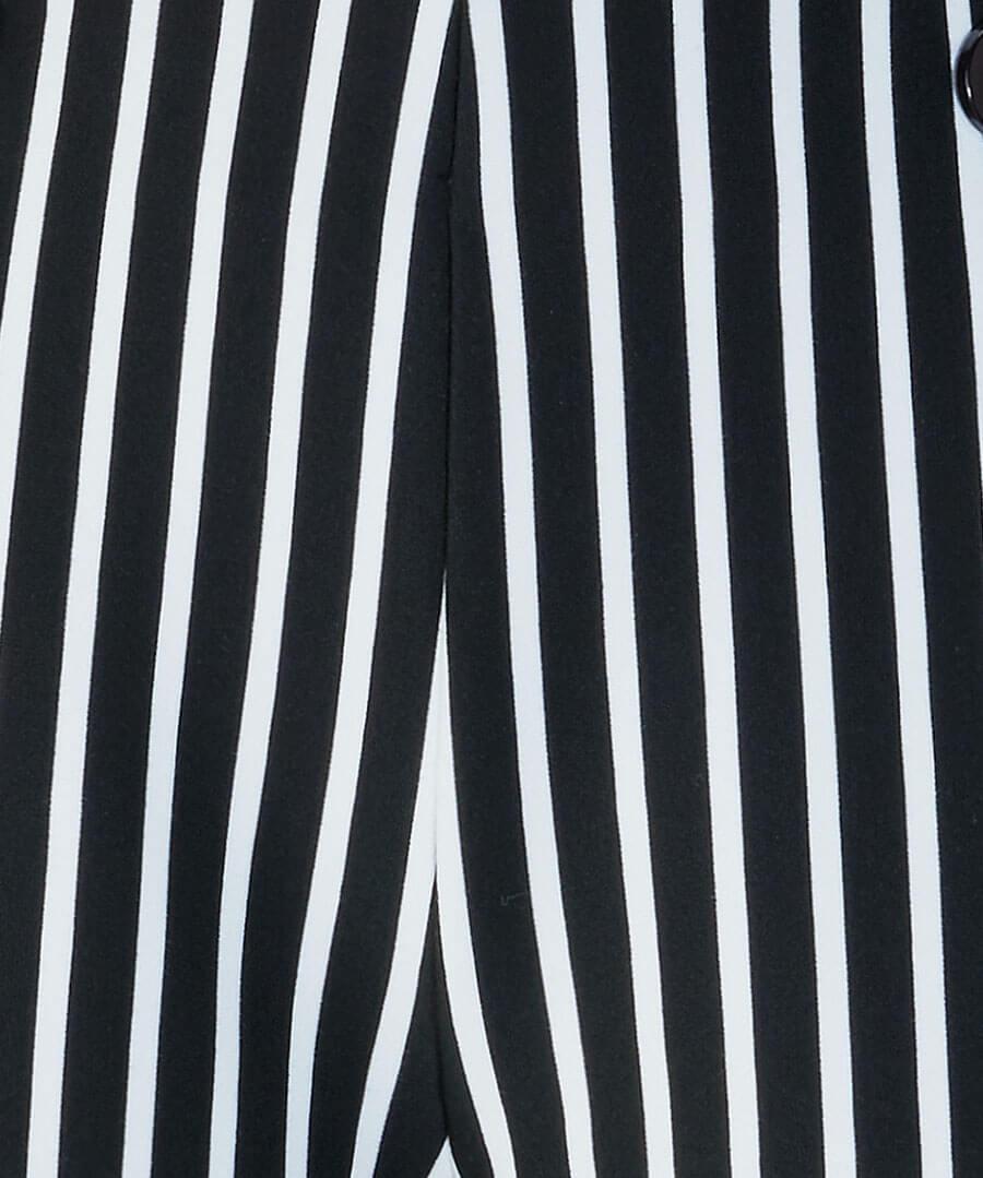 Easy Wearing Stripe Culottes Back