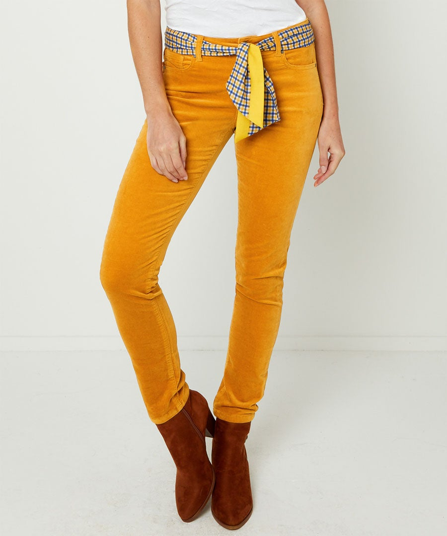 Stretchy Slim Trousers Model Front