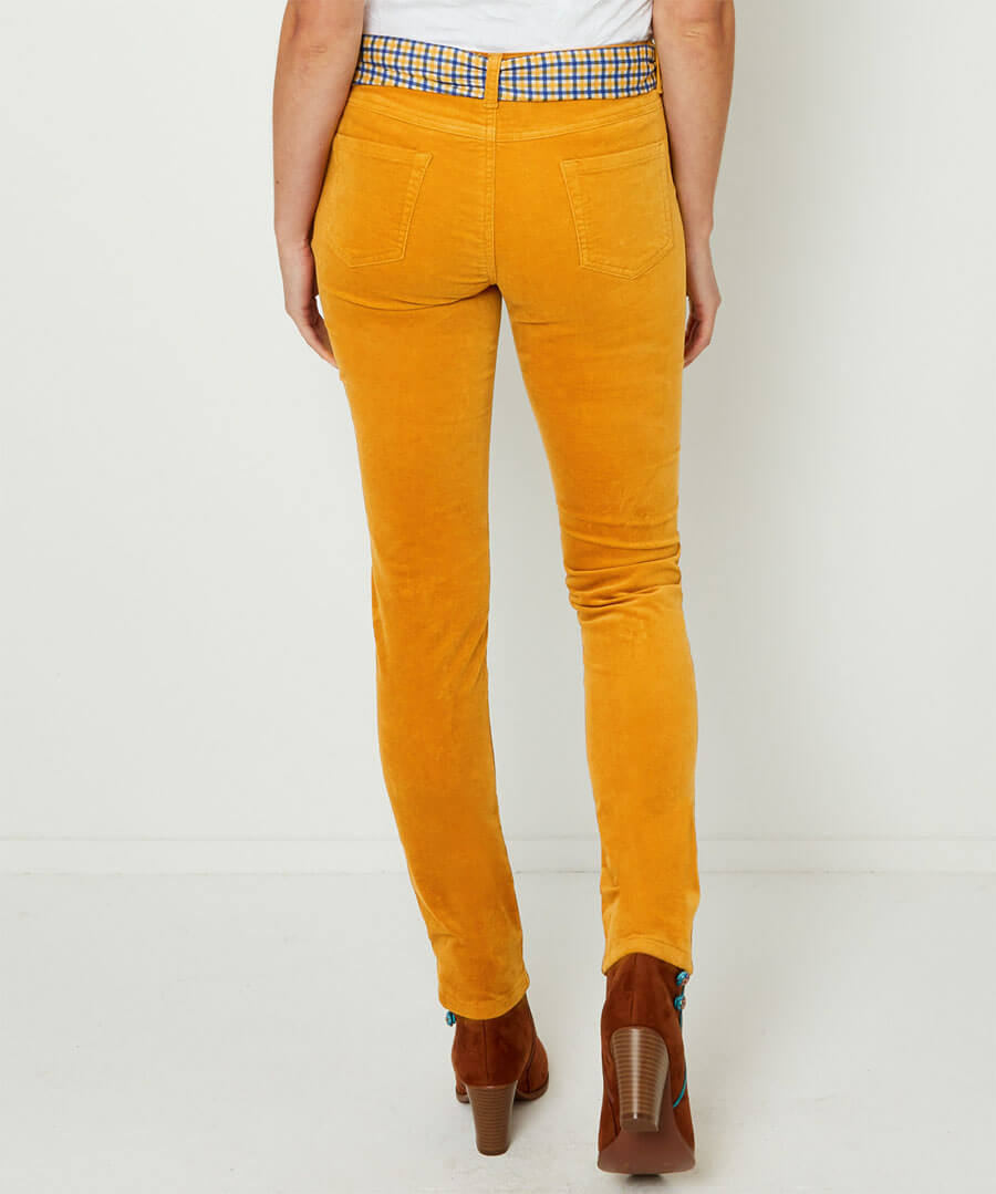Stretchy Slim Trousers Model Back