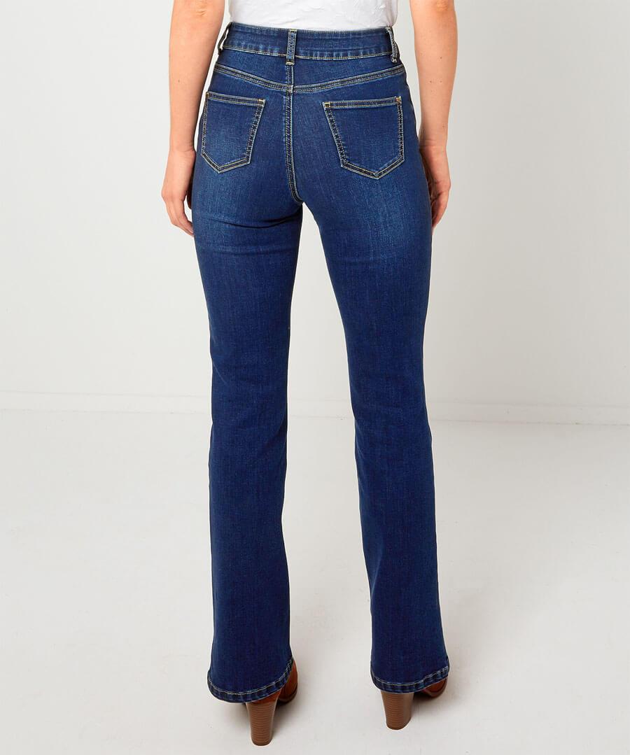 Western Bootcut Jeans Model Back