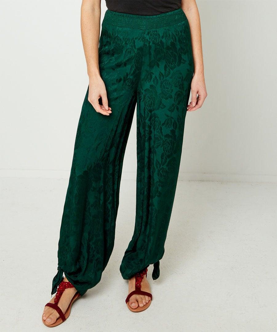 Joyful Jacquard Trousers Model Front