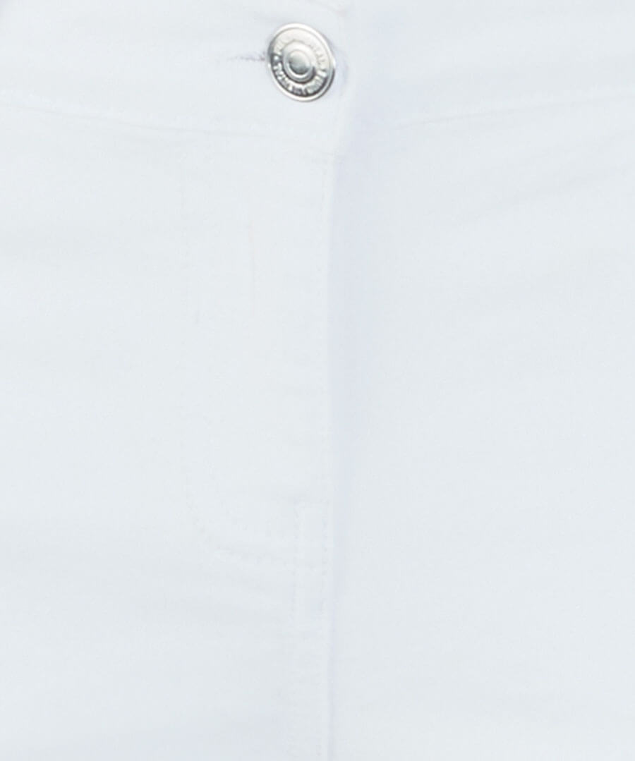 Embroidered White Jeans Back