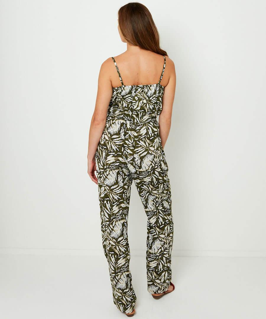 Safari Palm Jumpsuit
