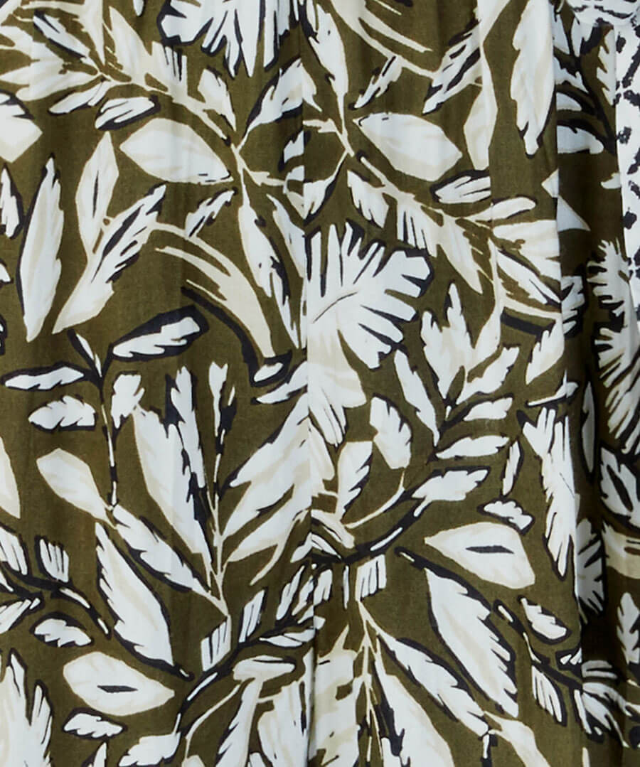 Safari Palm Jumpsuit Back
