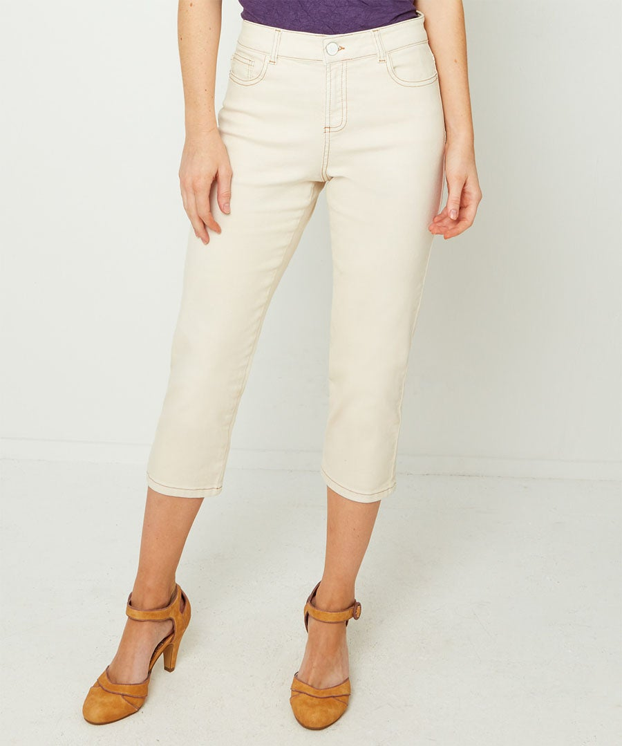 Recycled Wide Leg Jeans Model Front