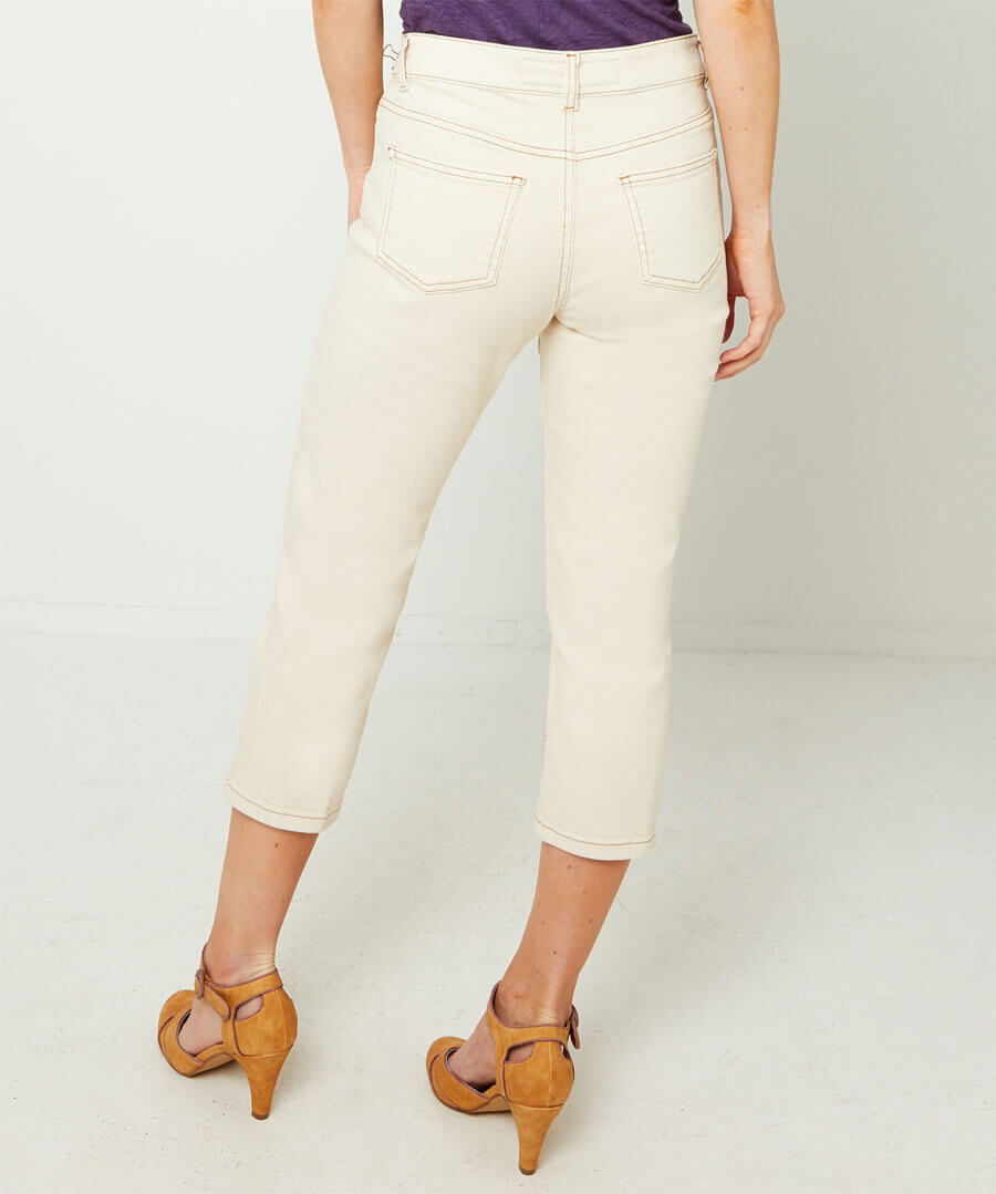 Recycled Wide Leg Jeans Model Back