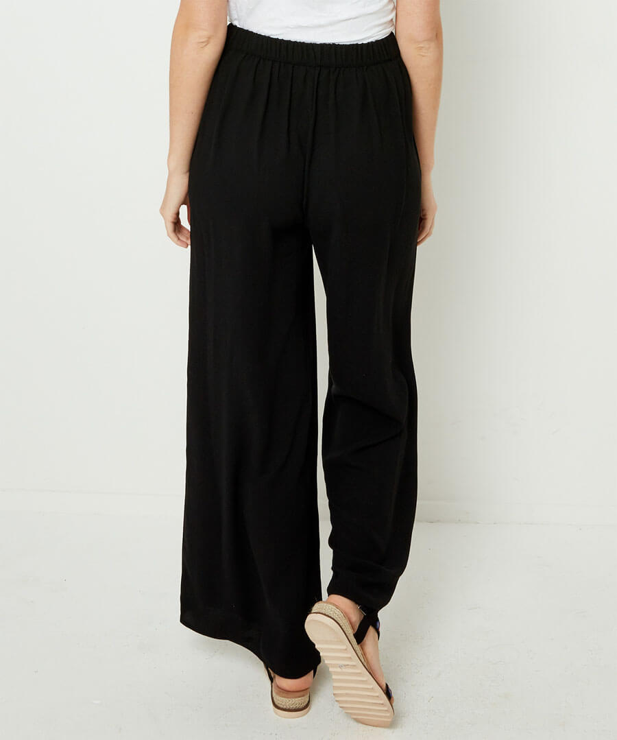 Capsule Collection Wide Leg Trousers Model Back