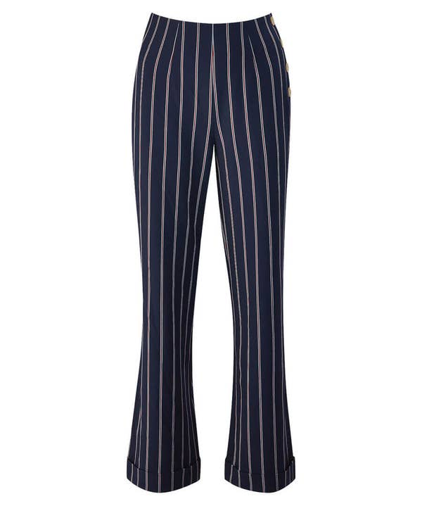 Stripe Wide Leg Trousers