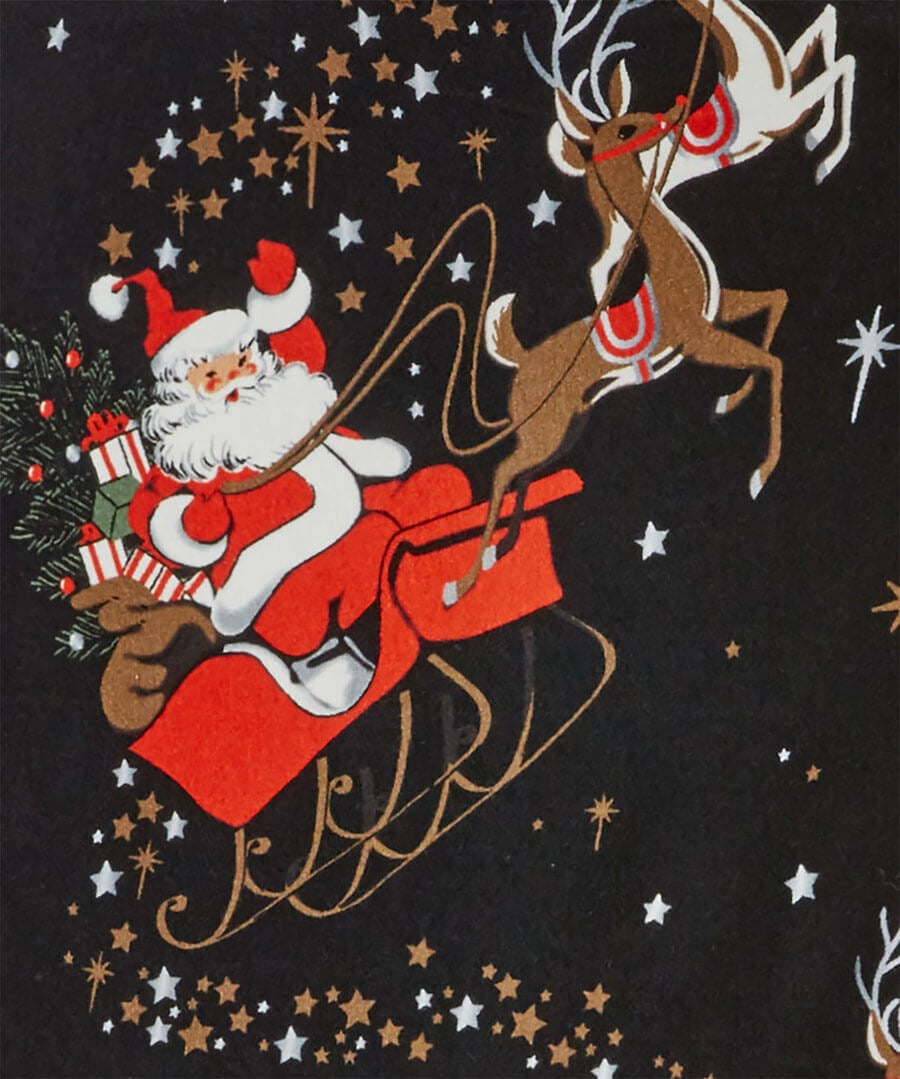 Secret Santa 2 In 1 Leggings Back