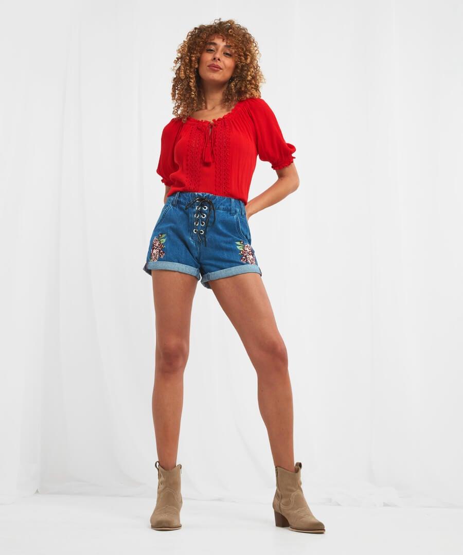 Festival Shorts Model Back
