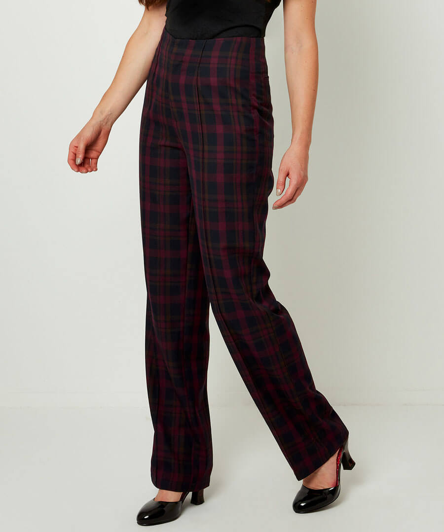 1950s Style Clothing & Fashion Check Trousers $40.00 AT vintagedancer.com