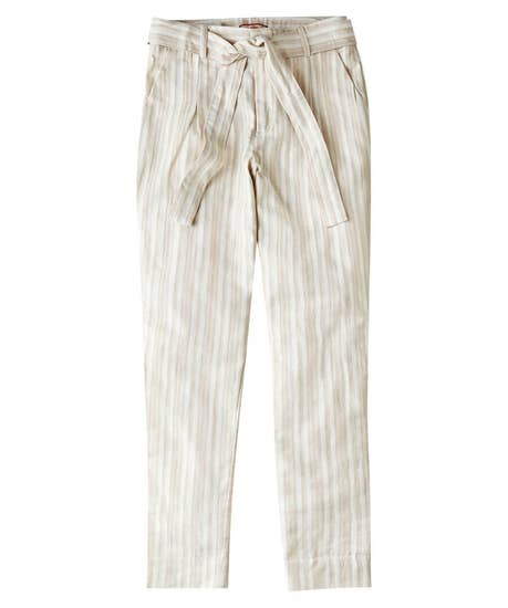 Natural Striped Trousers
