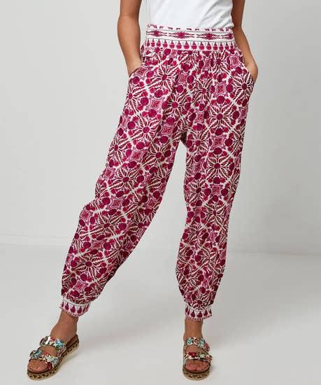 Tile Print Trousers
