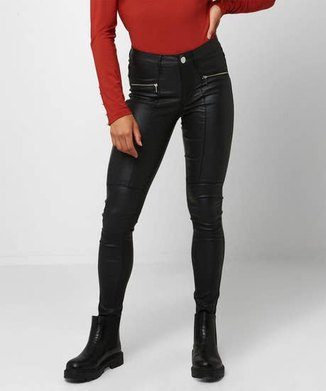 Rock Chick Leather Look Trousers