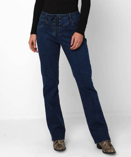 Lovely Lace Up Jeans