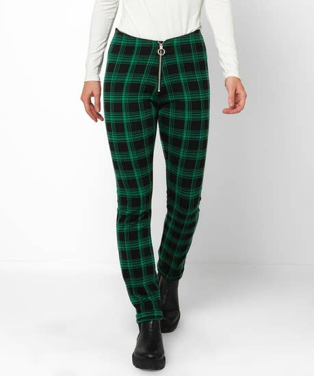 Rock Chick Check Trousers
