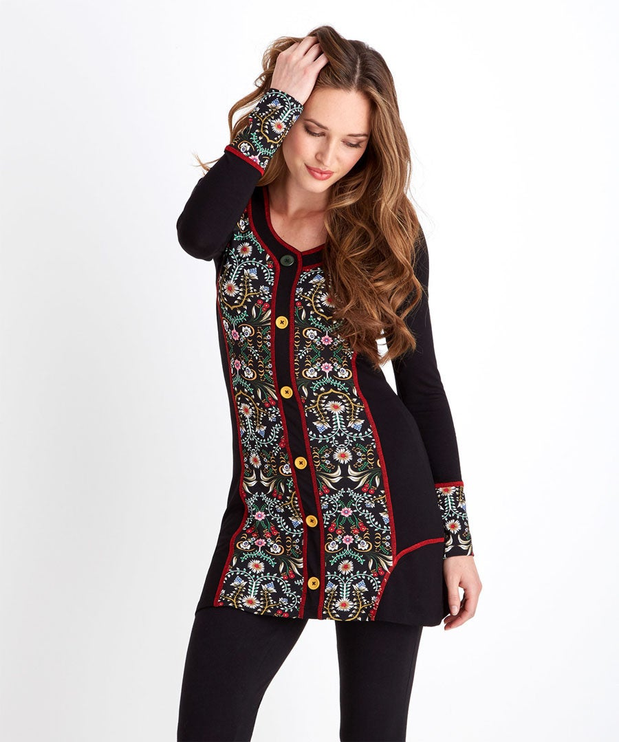Winter Charm Tunic Model Front