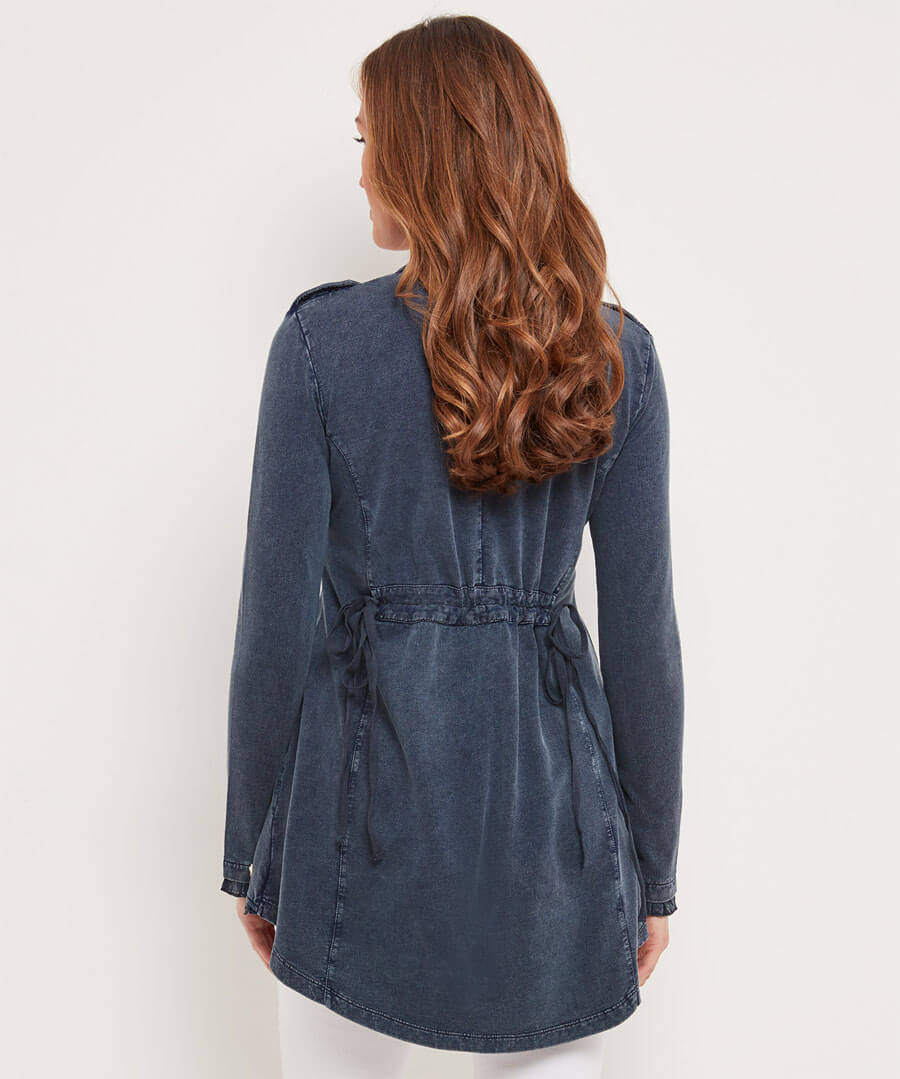 Boutiquey Embroidered Tunic Model Back