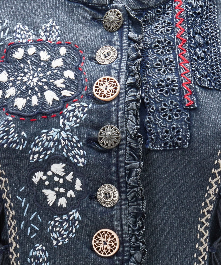 Boutiquey Embroidered Tunic Back
