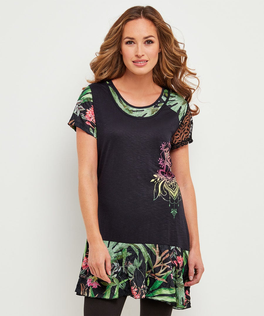 New Tropical Tunic Model Front