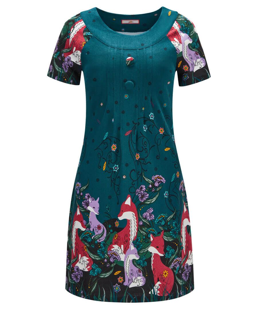 Joe Browns Womens Woodland Floral Print Fashion Tights Blue