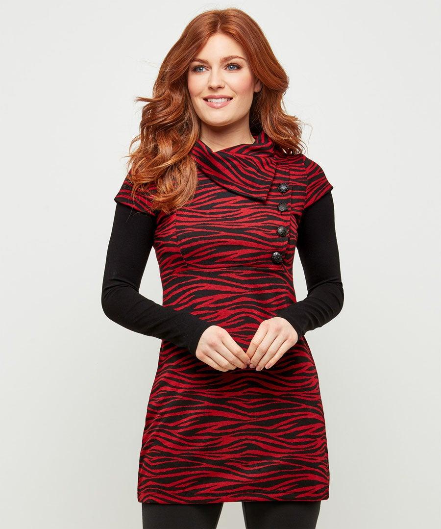 Red Zebra Tunic