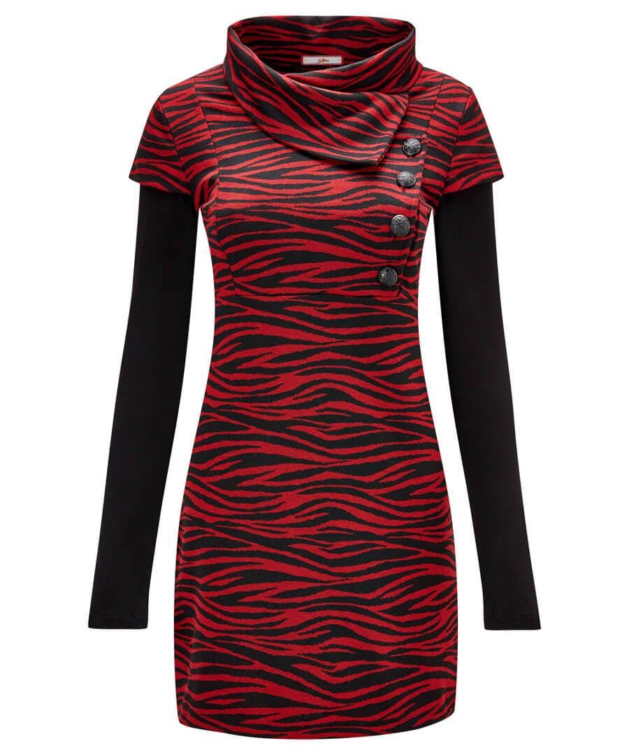 Red Zebra Tunic Model Front